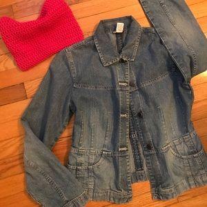 Super cute, detailed Loft jeans jacket